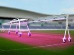 昭和電工、アルミ架台のLED植物工場にてスタジアム用の天然芝成長促進