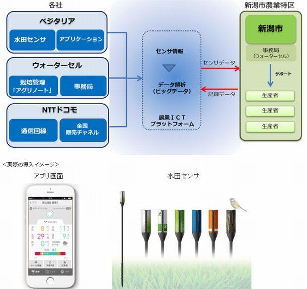 NTTドコモ・ベジタリアなど、農業特区の新潟市の稲作農業生産者にクラウド型水田管理システムを導入