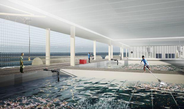 海上に浮かぶ未来の植物工場・食料生産基地