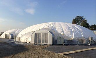 三重県鈴鹿市に建設した太陽光利用のドーム型植物工場が6棟稼働、リーフレタスやセロリなどの出荷を開始(王子HD)