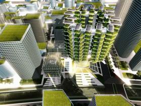 自然の木をイメージした垂直農場 植物工場や様々なクリーンテクノロジーを導入