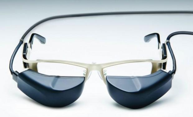 メガネスーパー、メガネ型ウェアラブル端末「b.g.(ビージー)」最新の商品プロトタイプを発表
