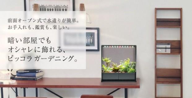 エスキュービズム、家庭用・小型植物工場キットを暗い部屋でも飾れる新商品として販売