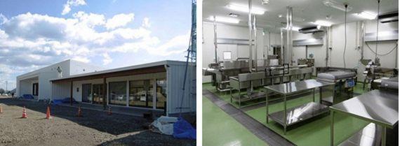 植物工場によるホウレン草の生産と介護食向け加工施設を併設