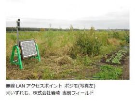 イノテック、三社協力で外部電源を使わず農場の土壌データの収集と蓄積を実施