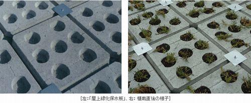 軽量気泡コンクリート(ALC)のリサイクル材を使用した「屋上緑化保水板」を開発(長谷工コーポレーションなど)