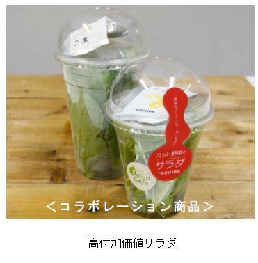 サラダ専門店にて植物工場野菜を販売