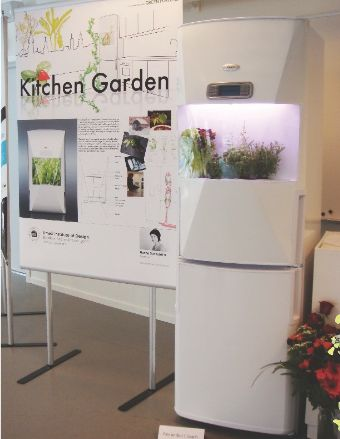 キッチン・ガーデン(冷蔵庫に植物工場を導入)