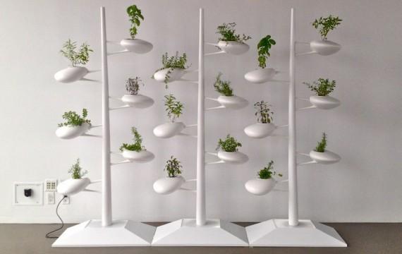 モジュール化された垂直式の水耕システムの提案。設置する場所によって自由に組み合わせることが可能(ニューヨーク)