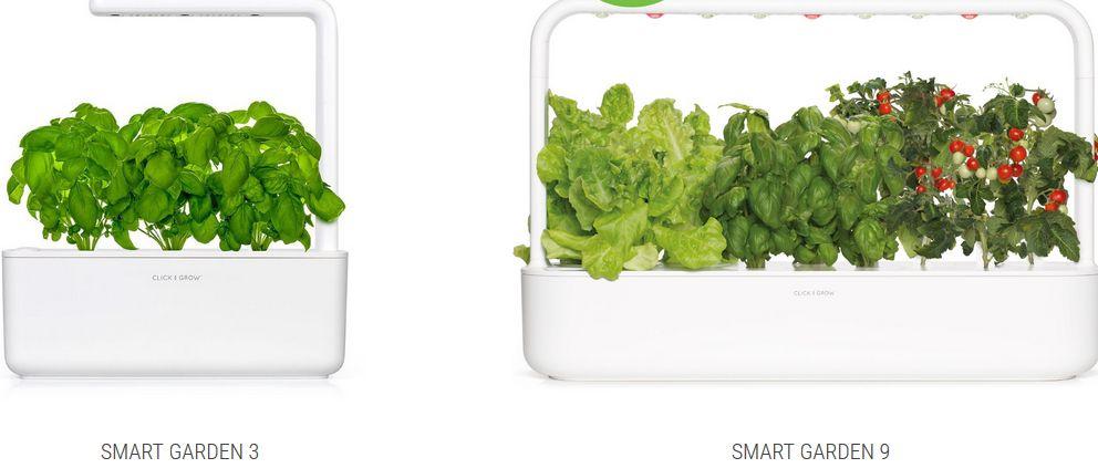 米国Click & Growによる小型・植物工場キットの開発。ITセンサー技術により手間不要