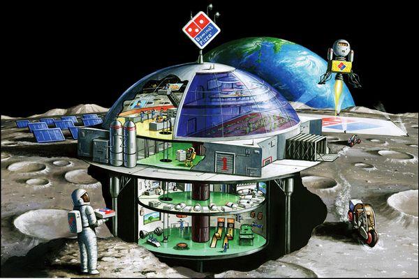 ドミノ・ピザ「月面出店計画」を公開。室内には植物工場も導入