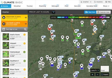 米国クライメイト、衛星画像を利用した高度な生産技術支援サービス