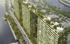 ベトナムの環境都市エコシティ、高層タワーに緑の空中庭園デザインを計画