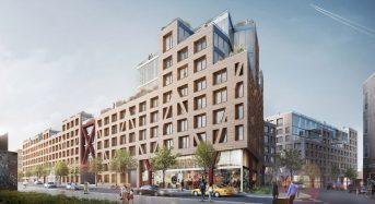 NYブッシュウィック地区の再開発。緑豊かな巨大屋上スペースを確保・都市型農業も推進