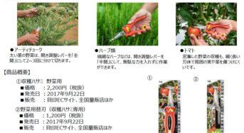 タケイファームと貝印が共同開発 「収穫ハサミ 野菜用」販売開始