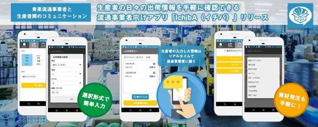 生産者の日々の出荷情報を手軽に確認できる流通事業者向けアプリ「IchibA(イチバ)」リリース