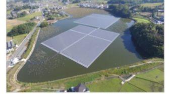三井住友建設、農業用ため池に水上太陽光フロートシステムを導入した太陽光発電所が完成