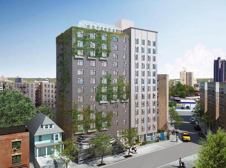 ニューヨーク、13階建て屋上ファーム付きのグリーンブルディング住居が竣工開始