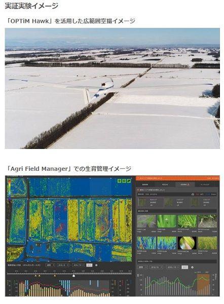 ソフトバンクとオプティム、北海道帯広にてドローンなどスマート農業の実証開始