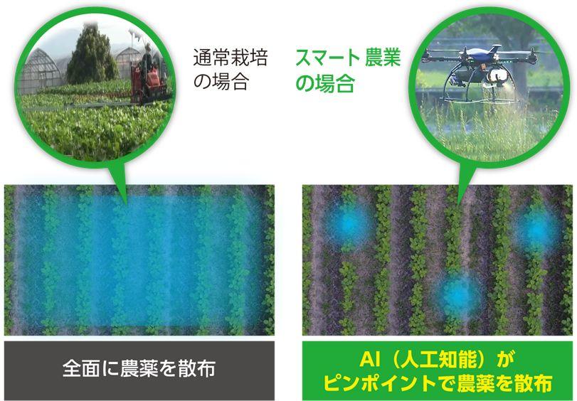 世界初、大豆栽培にてドローン活用・ピンポイントで農薬散布。