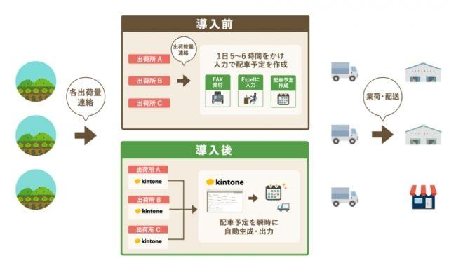 サイボウズと三浦市農協、農産物の配送システムを運営開始