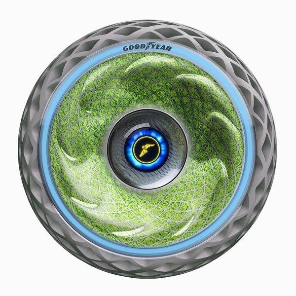 グッドイヤーによるタイヤ内部でのコケ培養。AIシステムによる最適化