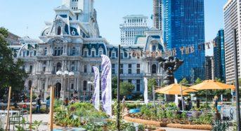 ペンシルベニア市役所前に、夏限定の都市型農場がオープン