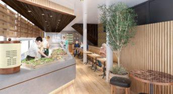 トレード、総合「食」業態のデリカテッセンをオープン。グループ内の植物工場レタスも使用