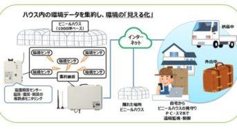 大崎電気工業、既存ハウスへ導入可能な環境データ・生産管理システムを開発