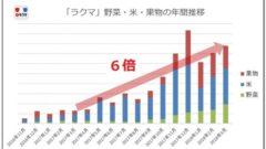 楽天フリマアプリ「ラクマ」農産物の取引調査結果を発表。取引流通額が1年で6倍に拡大