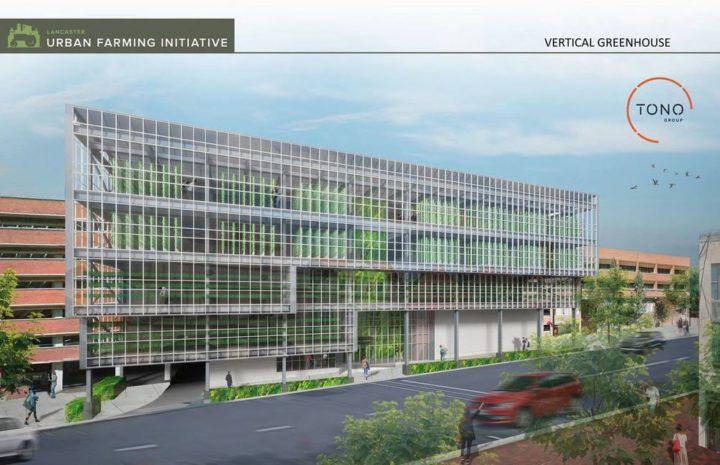 米国ランカスター市の都市開発、約19億円をかけて垂直式の高層・植物工場を建設
