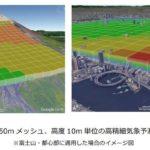 ウェザーニューズとKDDI、ドローン向け高精細気象予測システムを開発