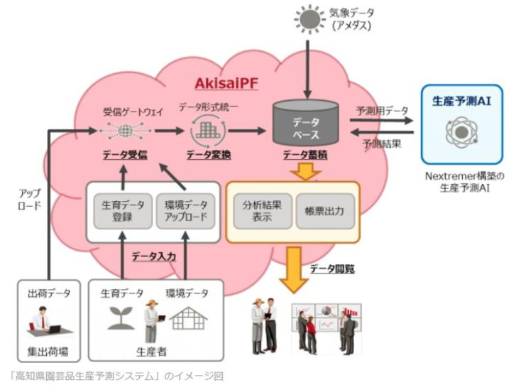 Nextremer、AIを活用した農作物の生産予測モデルを構築、高知県・富士通と共同で実証開始