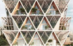 """モジュラー型の住宅と垂直農場""""植物工場""""を融合した未来都市"""