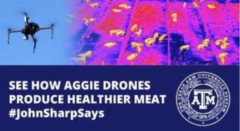 テキサスA&M、赤外線カメラによる家畜の体温計測。体調不良を予知できるドローン開発へ