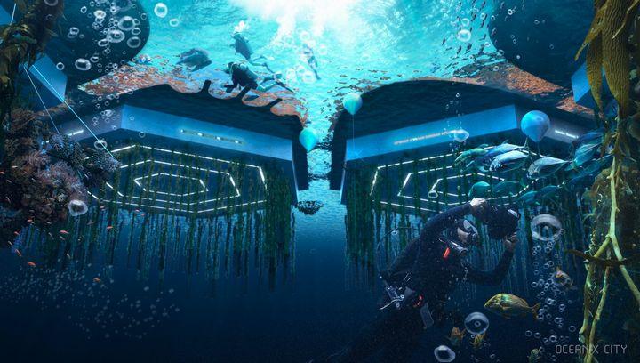 海面上昇の対策、海洋に浮かぶ街「フローティング・シティ」食料やエネルギーの自給自足を実現