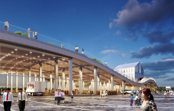 台湾の青果市場、屋上に農場を導入した最新施設として2020年に完成予定