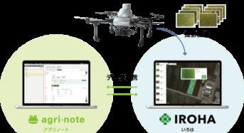 葉色解析サービス「いろは」営農管理ツール「アグリノート」の連携オプションサービス開始