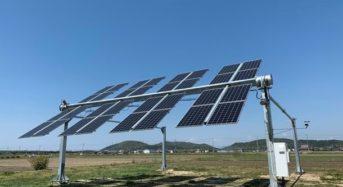 日本初・太陽を追尾する3次元の営農型太陽光発電架台 「ノータス架台」による実証実験プラントが完成