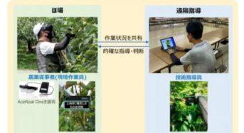 NTTドコモ、スマートグラスを活用した農業遠隔指導の実証実験を開始