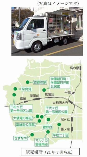 ダイエー、奈良市のマルナカ富雄南店で移動販売を開始。食品・日用品など約300品目を販売