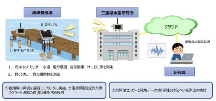 三重県水産研究所・ミキモトなど、IoTを活用した真珠養殖業の活性化へ